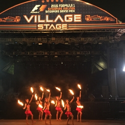 The Dancing Fire Sets Singapore Formula 1 Ablaze: L.A. Fire Dancers Delight Grand Prix Fans