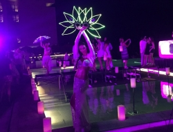 The Dancing Fire Performs at Grand Hyatt Playa del Carmen Ribbon-Cutting: Fire Dancers Dazzle Dignitaries at Grand Hyatt Opening