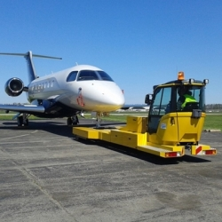 Most Advanced Electrically Operated Aircraft Tug with Ergonomic Cabin, Joy-Stick Control and 100% Hands-Off Nose Gear Soft Coupling Now Available in the US