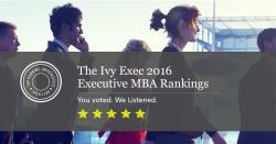 Ivy Exec Announces 2016 Top EMBA Rankings