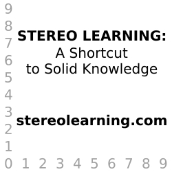 STEREO LEARNING: A Shortcut to Solid Knowledge. An Interactive Presentation Launches Online.