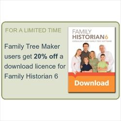 Family Historian Offer for Family Tree Maker Users