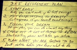 Announcing Retirement Planning Simplified: Everything You Need to Know on a 3 X 5 Card - Free