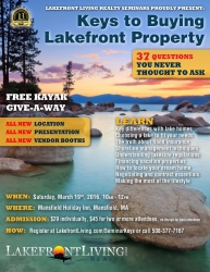 Lakefront Living Realty, LLC Announces 9th Annual Lakefront Property Buyers Seminar
