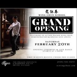 Wing Chun Kung Fu School Opens in Irvine