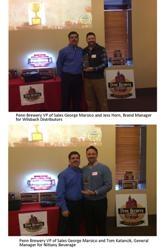 Penn Brewery Names Wilsbach Distributors and Nittany Beverage as 2015's Penn Beer Wholesalers of the Year