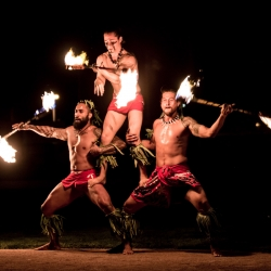 The Dancing Fire Performed for Record Crowds at LA County Airshow  - Fire Dancers, Hula Dancers, and Fire Breathers