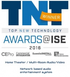 AIA Systems Are Honoured as the Best Home Cinema and Multi-Room Systems at the ISE 2016