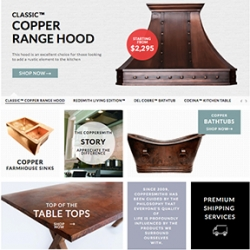 Twin Cities-Based Home Products e-Retailer CopperSmith® Launches New Web Site with Custom Design Features