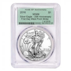 Bullion Exchanges Exclusive Release of 2016 PCGS OGH Silver Eagle Coin