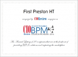 First Preston HT Recognized Among 20 Most Promising BPM Solution Providers 2016 by CIOReview