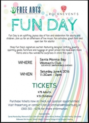Los Angeles Art-Based Non-Profit Joins with Events Company to Heal Kids Through Art at Free Arts' Fun Day on June 4, 2016