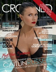 CROWNED Pageantry Magazine is Pleased to Launch Its May 2016 Swimsuit Edition! Gracing the Cover is the Sexy and Glamorous Miss Vizcaya Swimwear 2016 Caitlin Russell!