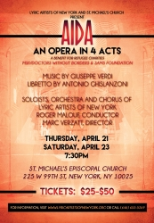Lyric Artists of New York and St. Michael's Church to Present Verdi's