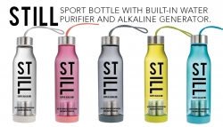 STILL Sport Water Bottle with Built-in Purifier and Alkaline Generator