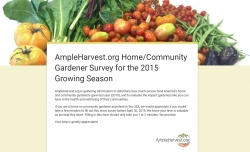 Ampleharvest.org Invites Home/Community Gardeners to Participate in Garden Food Waste Survey