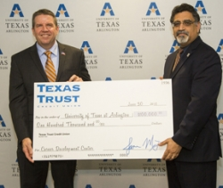 Texas Trust Credit Union Gives $100,000 to Support UTA Career Development Center