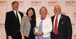 Susan Gunderson of St. Paul, Minnesota Receives Achievement Award from Association of Organ Procurement Organizations
