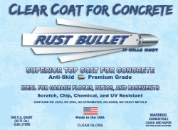 Rust Bullet, LLC Announces Rust Bullet Clear Coat for Concrete