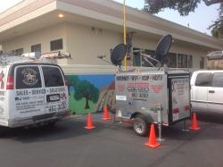 Satellite Backup for Red Cross Chimney Fire Evacuation Center