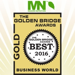 Makers Nutrition Receives Gold Honors for Management Team of the Year in the 8th Annual Golden Bridge Awards® (2016)