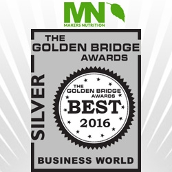 Makers Nutrition® Wins Silver for Website of the Year in the 8th Annual  Golden Bridge Awards® (2016)