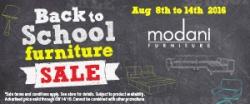 Modani Furniture's Back to School Sale