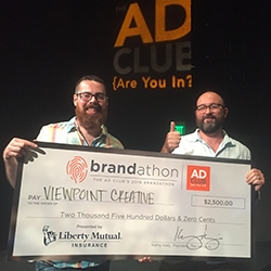 Viewpoint Creative Takes Home Two Awards at Boston Ad Club's Brandathon