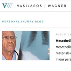 Personal Injury Law Firm Vasilaros | Wagner Announce Redesigned Website
