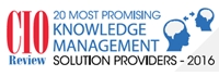 WhoKnows, Inc. Awarded as One Among the 20 Most Promising Knowledge Management Solution Providers 2016