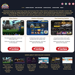 New Casinos Release Australian Website with Screenshots