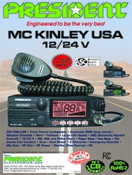 President Electronics USA Introduces the McKinley SSB 12/24V CB Radio