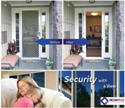 Complement Home Surveillance Systems with Meshtec Security Windows & Doors