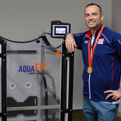 Highly Decorated and Gold Medalist Volleyball Player Lloy Ball Endorses Aquatic Therapy Products by Hudson Aquatic Systems