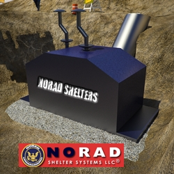 NORAD Shelter Systems LLC's Solar-Powered S16x10-CIV - NORAD's Smallest Underground Nuclear War Bomb Shelter for 4-6 Civilians