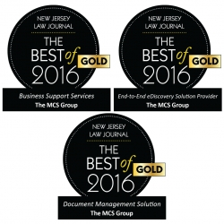 MCS Sweeps Three Gold Honors in the New Jersey Law Journal's