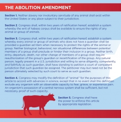 Abolition Day 2016: U.S.'s Vegan, Abolitionist Political Party Publishes Final Draft of Abolition Amendment; Will Grant Legal Personhood, Rights to Other Animals
