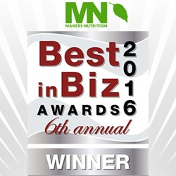 Makers Nutrition Wins Both Silver and Bronze Honors in Best in Biz Awards 2016