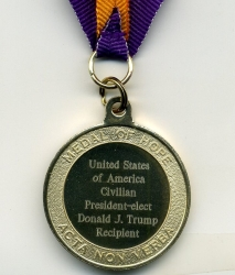 The Medal of Hope Society Names President-Elect Donald J. Trump as a Recipient of the Medal of Hope