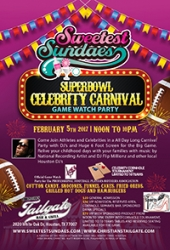 The Push Media Group, The Sports Girls, Christians Tailgate Present Players and Pets and Sweetest Sundaes Houston Super Bowl Celebrity Charity Parties