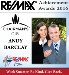 RE/MAX Elite Agent Andy Barclay Earns Annual Sales Production Award