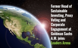 Former Sustainability and Governance Expert at Goldman Sachs AM Joins Leaders Arena to Advise Companies