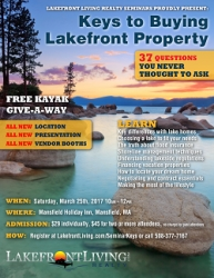 Lakefront Living Realty, LLC Announces 10th Annual Lakefront Property Buyers Seminar