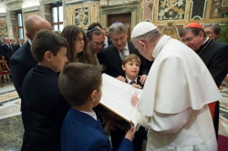Pope Francis Receives 1st Torah Project Book