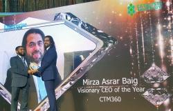 Mirza Asrar Baig, CEO oF CTM360, Awarded