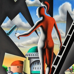 Mark Kostabi - Contemporary Master at Martin Lawrence Gallery New Orleans