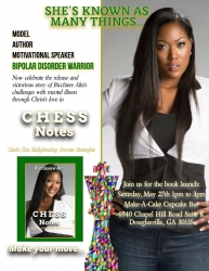 "LTL Author, Model, Former Music Artist, Bipolar Disorder Warrior Bicchiere Alta  Releases Debut Biography ""CHESS Notes: Christ Has Enlightening Success Strategies"""