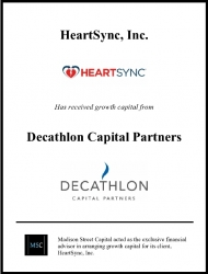 Madison Street Capital Arranges Growth Capital for HeartSync, Inc.