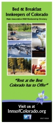 Just Released - The 2017 Official Colorado Bed and Breakfast Inn Guide Featuring B&Bs Across the State to Get the Inn-Side Travel News & Award-Winning Breakfast Recipe