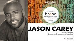 "Timeless Consumer Engagement Specialist (CES) Wins Top Award, Jason Carey Selected National ""Brand Ambassador of the Year"" at EX Awards 2017"